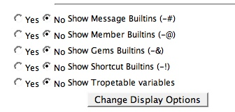 pic_variable Display Options: